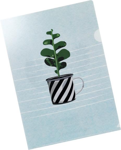 sichthülle, gerstenberg, papeterie, schreibwaren, plant it, pflanze, tasse