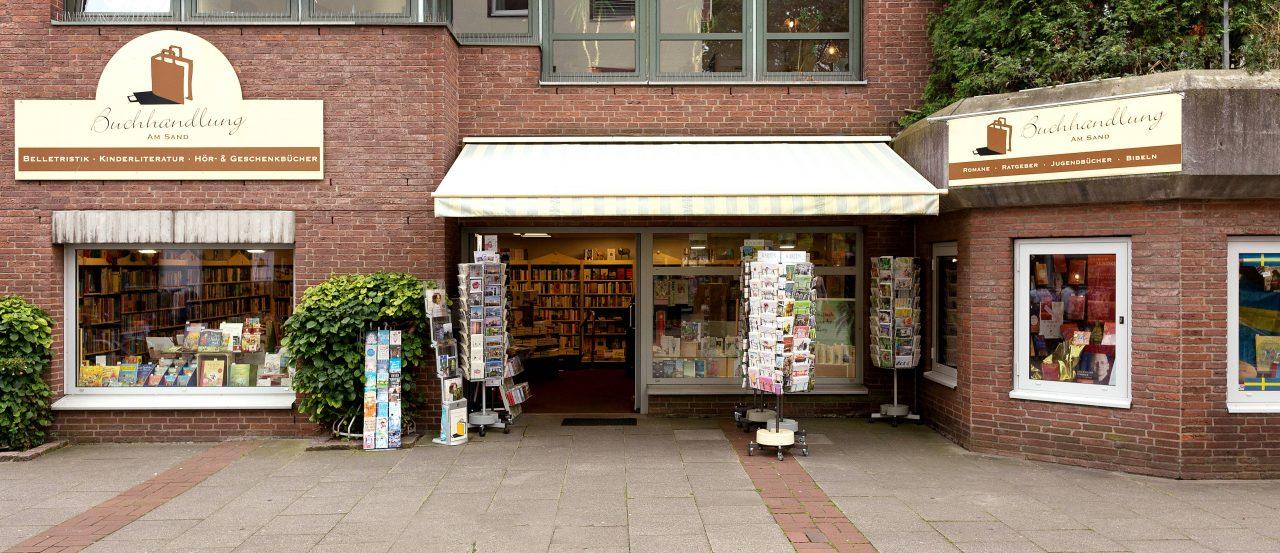 Das Ladengeschäft der Buchhandlung am Sand